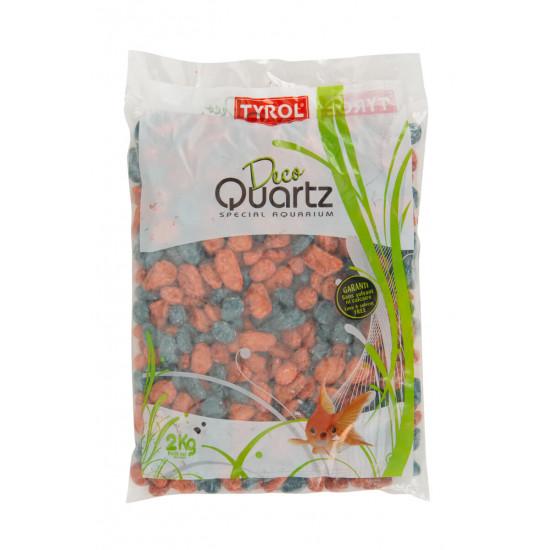 Graviers vernis mix petrol terracot de Agrobiothers - Produits pour animaux dans Sable pour aquariums