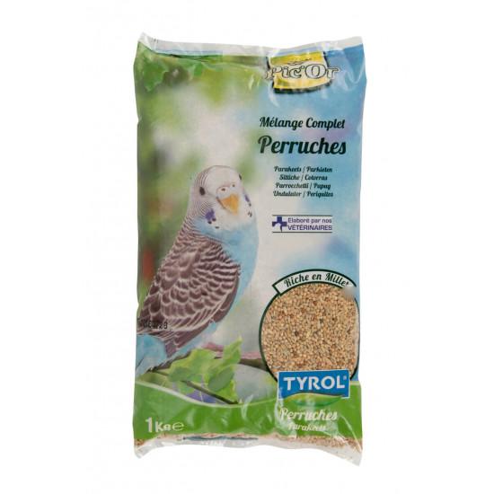Melange perruches 1kg de Agrobiothers - Produits pour animaux dans Graines pour oiseaux