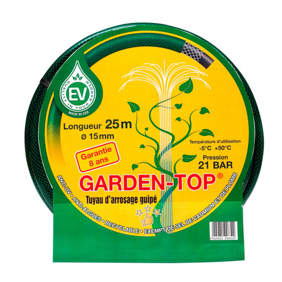Tuyau garden-top vert d19 25m