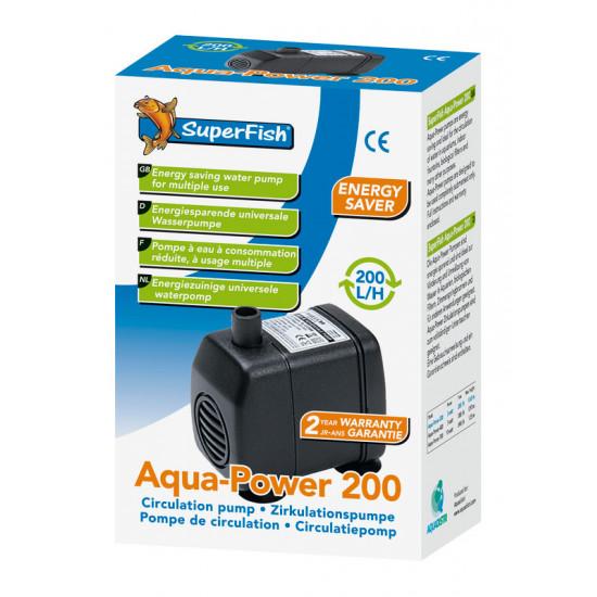 Aquapower 200 - 200 l/h de Superfish - Aquadistri - accessoires pour aquarium et bassin dans Pompe