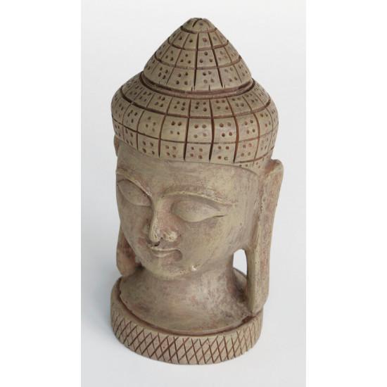 Deco zen buddha face large