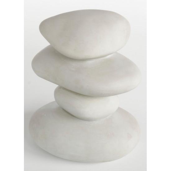 Deco zen 4 pebbles blanc
