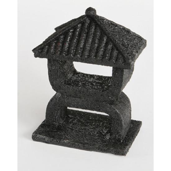 Deco zen mini temple noir de Superfish - Aquadistri - accessoires pour aquarium et bassin dans Décoration