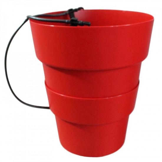 Pot hydroponie hydro+ rouge