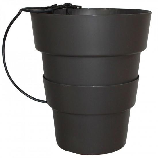 Pot hydroponie hydro+ noir