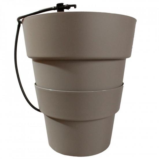 Pot hydroponie hydro+ taupe de Hydroponics+ - pots pour hydroponie dans Accessoires jardin et culture