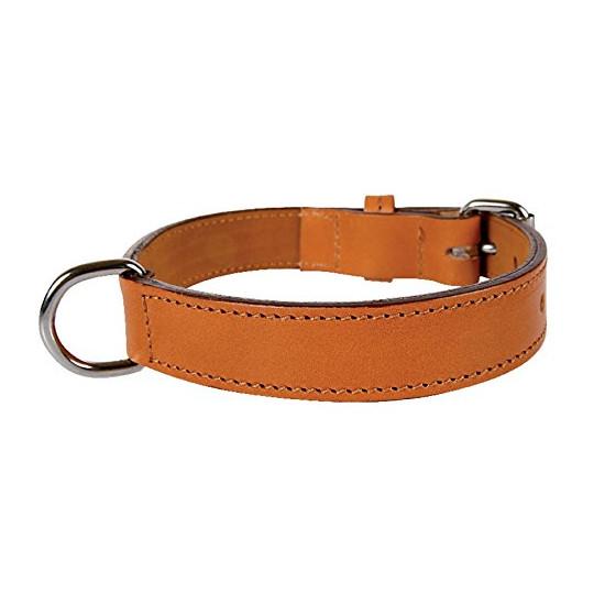 Collier cuir dbl 55 cm nature de Zolux - Produit pour animaux dans Laisses, colliers et harnais