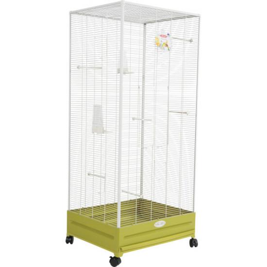 Voliere arabesq camille 55 olive de Zolux - Produit pour animaux dans Volieres pour oiseaux