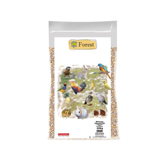Volaille forest 20 kg de Notre sélection dans Alimentation des poules et animaux de basse cour