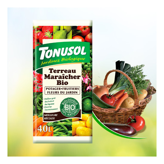 Terreau maraicher bio 40l de Tonusol - Terreau dans Grand volume