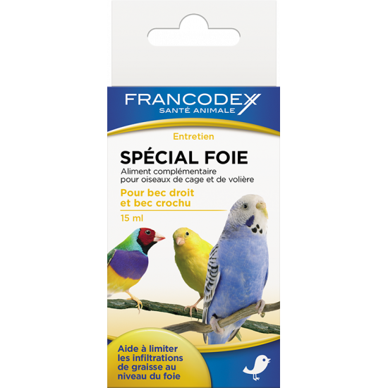 Special foie 15ml de Francodex - anti puce et soin pour chien et chat dans Soin des oiseaux