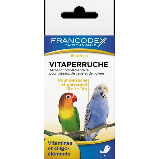 Vitaperruche 18g+15ml de Francodex - anti puce et soin pour chien et chat dans Soin des oiseaux
