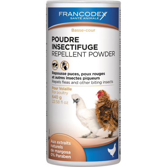 Poudre insectifuge volaille