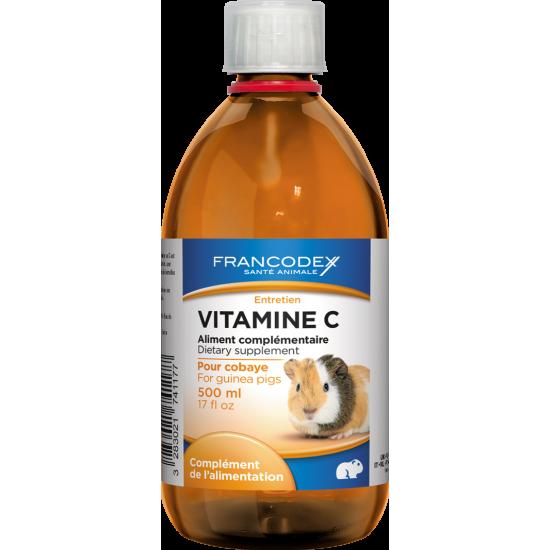 Vitamine c pro 500ml de Francodex - anti puce et soin pour chien et chat dans Hygiene rongeurs