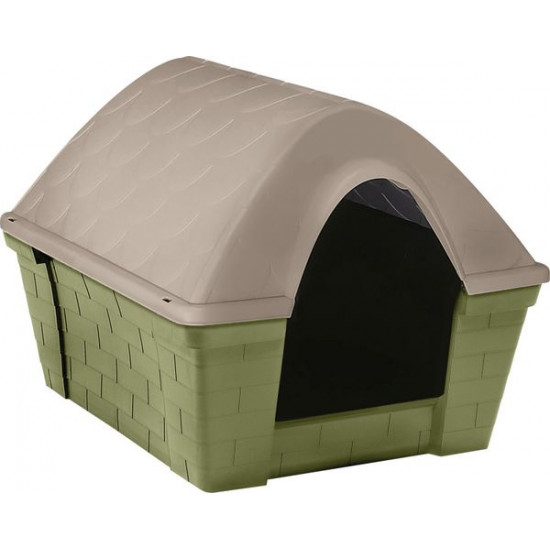 Niche casa felice large vert / taup de Zolux - Produit pour animaux dans Niches pour chiens