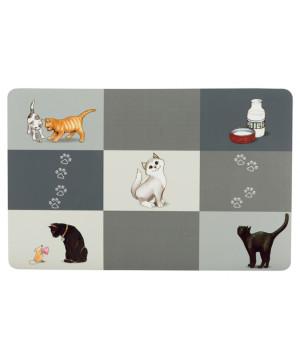 Set de table chat 44 28cm gris de Trixie - Produit pour animaux dans Portes bouteilles - Couverts - Vaisselles