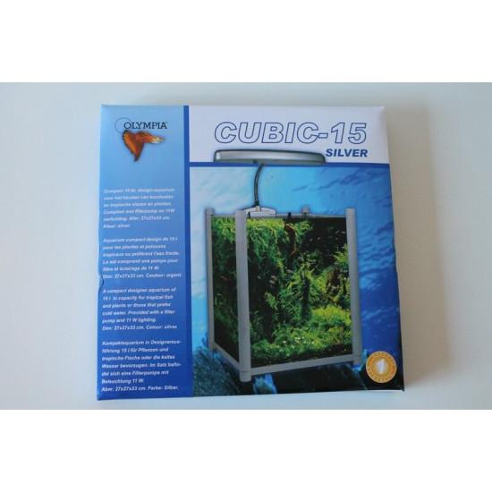 Aqua cubic 15 aluminium de Divers dans Aquariums