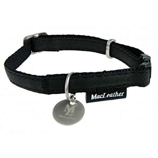 Collier reg mcleather 15mm noir