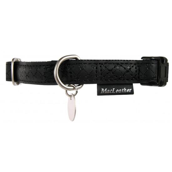 Collier reg mcleather 25mm noir