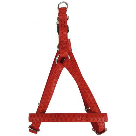 Harnais reg mcleather 10mm rouge de Zolux dans Chiens